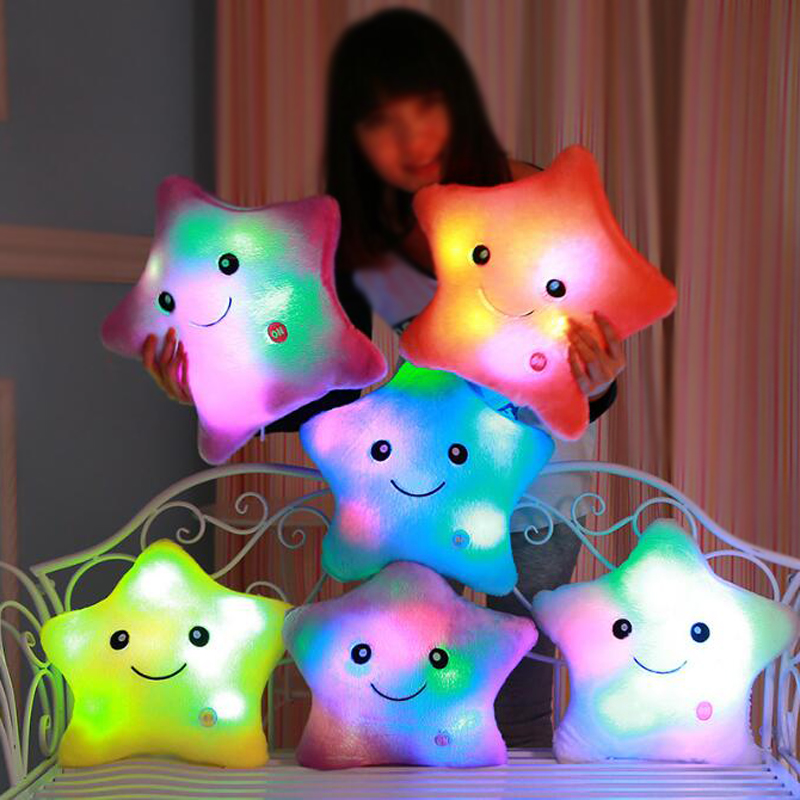Luminous pillow Christmas Toys, Led Light Pillow,plush Pillow, Hot Colorful Stars,kids Toys, Birthday Gift YYT214-YYT218(China (Mainland))