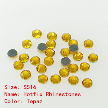 SS16 DMC Germany Rhinestones Pretty Nice Hot Fix Flat Back Crystals Topaz Stones Fast Delivery(China (Mainland))