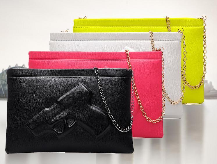 European and American trade fashion handbags Vlieger - Vandam pistol bag styling package Clutch Messenger Bag Killer package(China (Mainland))