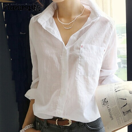Women Shirts Blusa Feminina 2015 Summer Style White Blouse Ladies Blouses Female Shirt Shirts Long Sleeve Plus Size Woman Tops(China (Mainland))