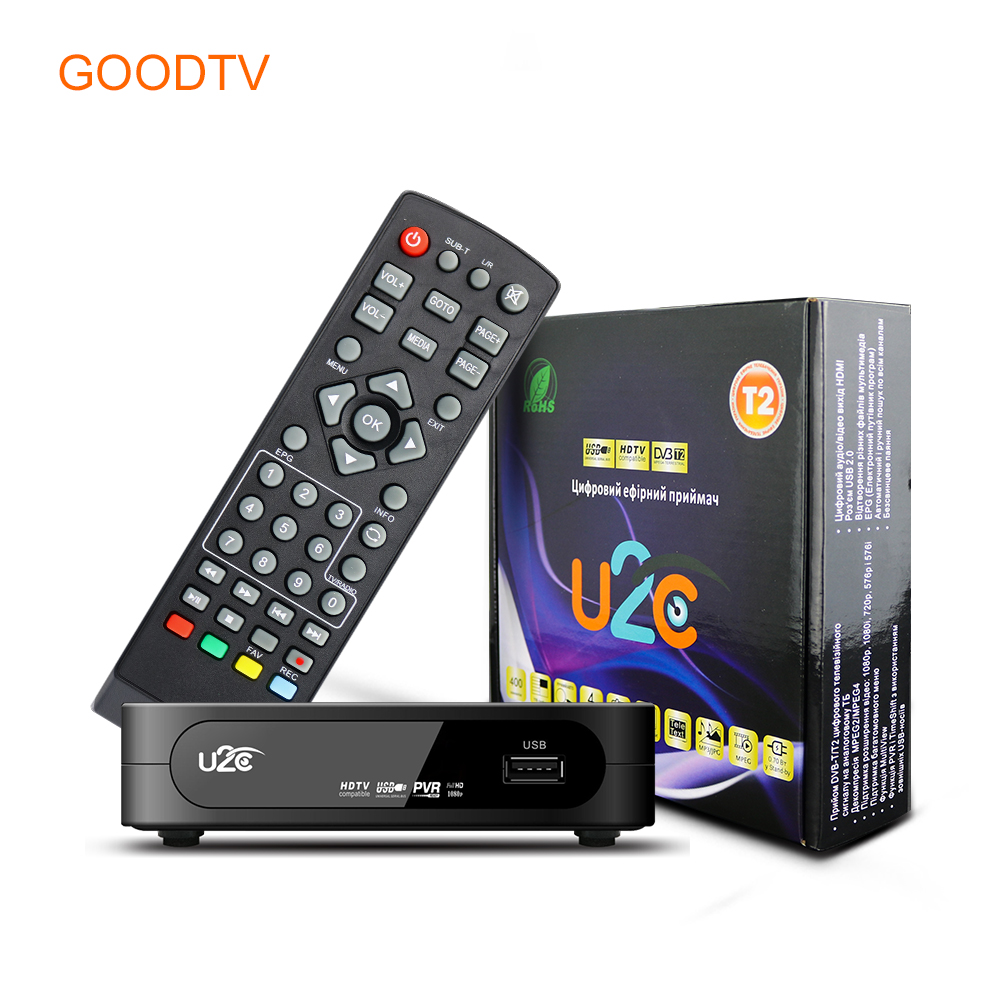 U2C Tv Receiver Dvb-t2 Set Top TV Box DVB T2 Digital Video Broadcasting Terrestrial Receiver DVB T/T2 Set Top Box TV Set(China (Mainland))