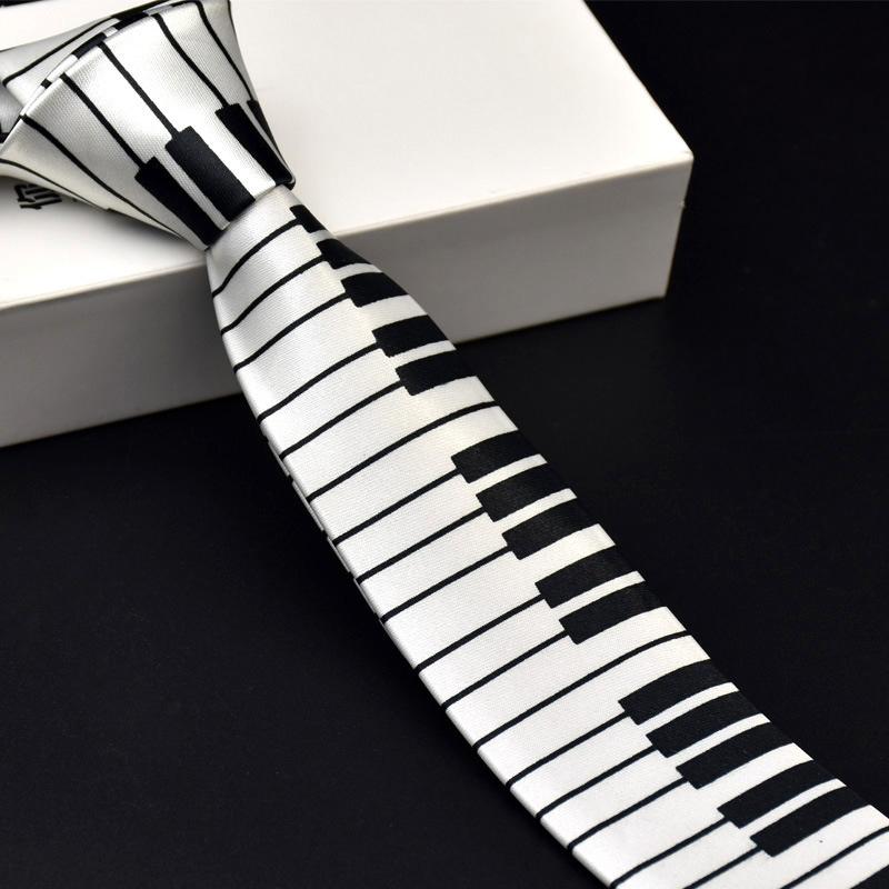 New Fashion Ties Designer Novelty Men's Music Tie Piano keyboard Guitar Music Note Necktie(China (Mainland))