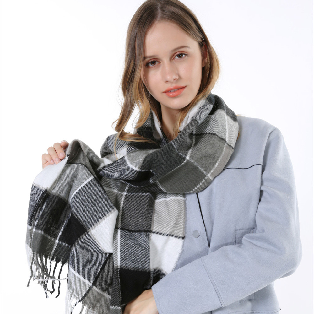 2015 Cheap Fashion Casual Warm font b Tartan b font Cashmere Men Shawl And Scarfs Oversize
