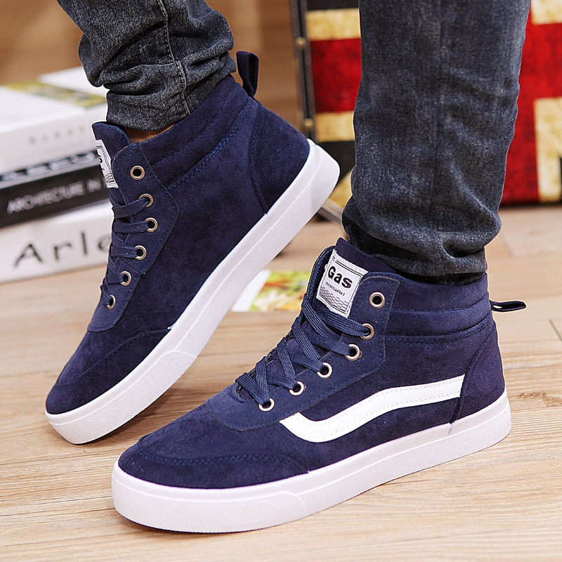 Sneakers spring autumn Men Shoes nubuck Leather Suede Lace Boots High Top Size 39-44 Ankle Male 844 - All-New shoes Market store