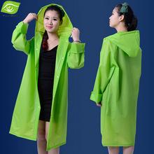 EVA Translucent Lovers Raincoat With Hood Waterproof Women Outdoor Rainwear Over Knee Length Poncho Coat(China (Mainland))