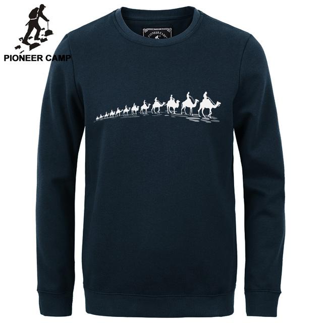 Пионерский Лагерь новый 2016 осень Зима моды для мужчин толстовки случайные 100% хлопок сгущает руно мужской пуловер мужчин crewneck толстовка