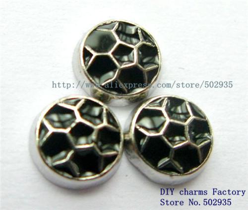 20pcs Football floating locket charm Fit living memory lockets FC038-3(China (Mainland))
