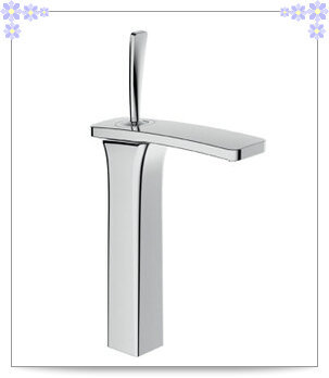 Art Deco Solid Brass Chrome Tall Centerset Functional Bathroom Vanity Sink Faucet / Basin Tap / Torneira Mixer (F8038-101T) pape(China (Mainland))
