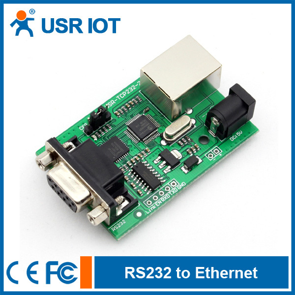 Free shipping Serial RS232 to Ethernet TCP/IP Module, Can Work at TCP Server/Client or UDP Mode(China (Mainland))