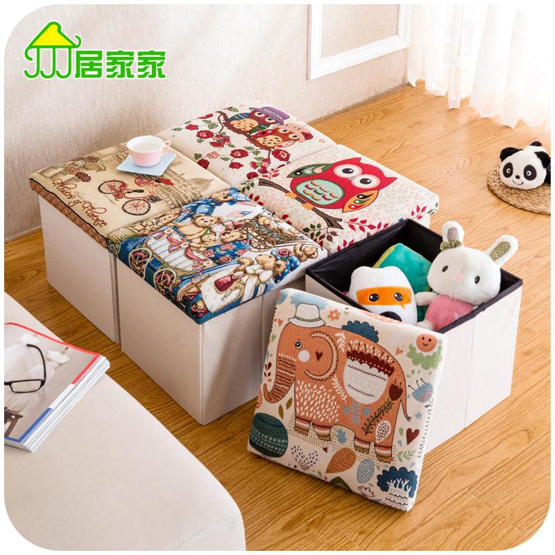 Home home sitting shoes stool folding stool stool storage box cloth toy storage box stool(China (Mainland))