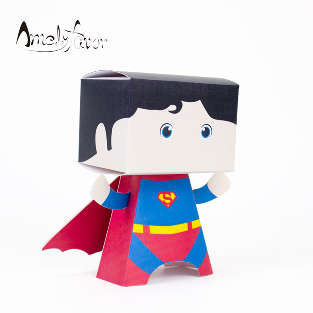 Superhero Favor Box Superman Candy Box Boy Party Favors Gift Box Kids Birthday Party Supplies Decoration Event Party Supplies(China (Mainland))