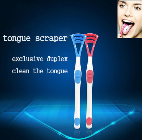 Breath Cleaner Scrape Soft Oral Tongue Scraper Instrument Bad Breath Tongue Cleaner Handle Dental Care Clean Mouth Fresh Breath(China (Mainland))
