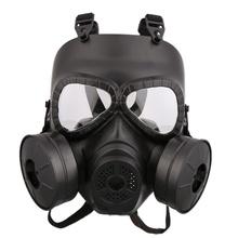 Противогаз оборудован шлем (двойной вентилятор) черный Открытый Защита игры сильное влияние безопасный шлем(China)
