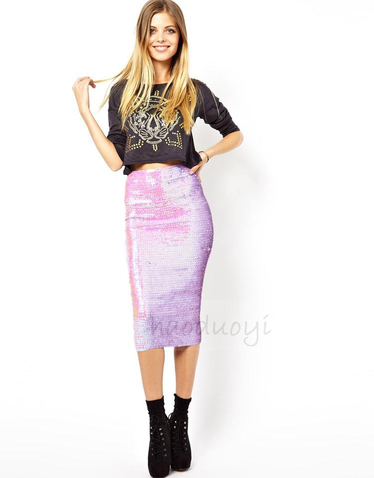 Luxury 2014 Autumn Winter PU Leather Skirts Women Fashion Solid High Waist