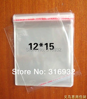 E4 Clear Resealable Cellophane/BOPP/Poly Bags 12*15 cm  Transparent Opp Bag Packing Plastic Bags Self Adhesive Seal