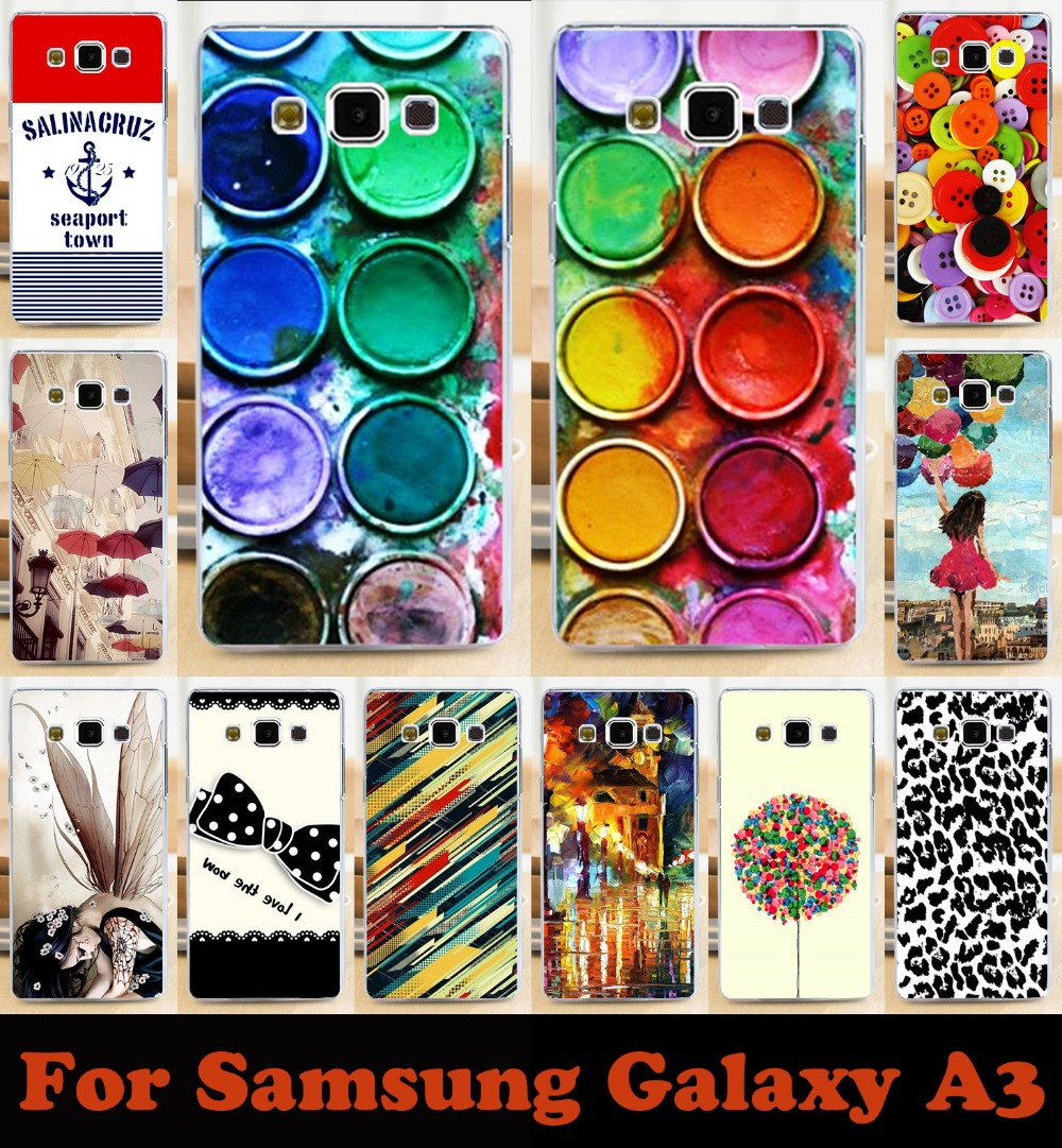 Hot Fashion painted mobile phone case hard Back cover Skin Shell for samsung Galaxy A3 A300