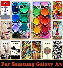Hot Fashion painted mobile phone case hard Back cover Skin Shell for samsung Galaxy  A3 A300 A3000 A3009 free shipping