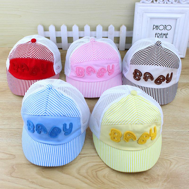 2016 New children's hats summer baseball cap Baby Hat summer cap Baby Hat(China (Mainland))
