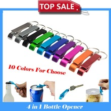 Solid Aluminum Personalized Beer Bottle Opener Keychain, Pocket Beer Personalized Beer Bottle Opener 10 Color for choice(China (Mainland))
