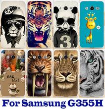 Красочные тигра милый олень курение панда жесткий телефон чехол для Samsung ядра галактики 2 G355h G3559 G355 чехол