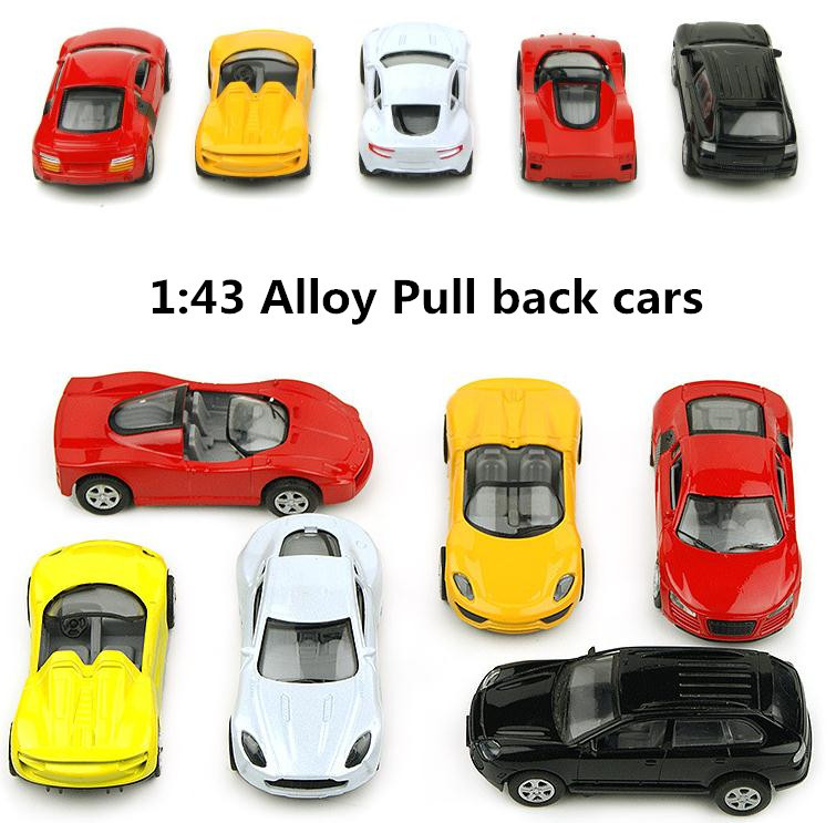 Children puzzle mini toys,1 : 43 Pull back high quality metal cars toy, Supercar, Diecasts car,Toy Vehicles,Free Shipping(China (Mainland))