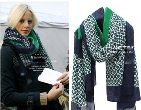Внешняя торговля оригинальный одиночные супер-мягкие красивый зеленый шарф негабаритных шаль дамы ветра высокое атмосферное ветер теплый шарф