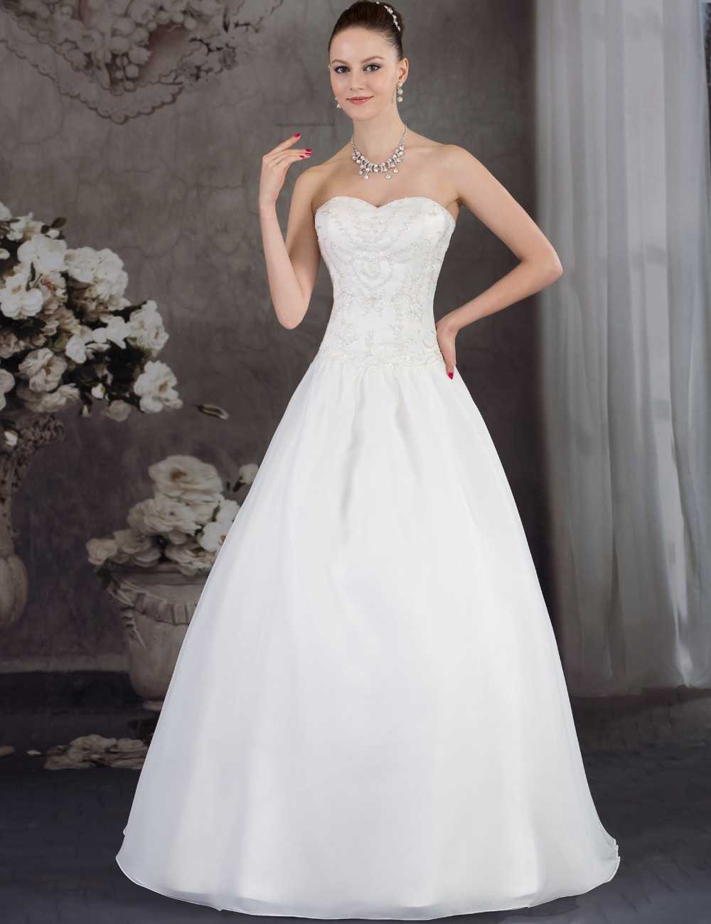 Wedding Dresses Real : Bridal real sexy ball gown bride dresses long flowers satin wedding
