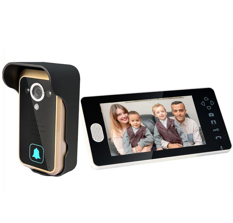 "Camera Monitor IR Night Vision PIR Intercom Doorbell 2.4G 7"" Wireless Video Door Phones(China (Mainland))"