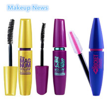 3 teile/los Marke Mascara Wasserdicht Make-Up Wimpern Curling Thick mit Kollagen für augen Volume Express kosmetik-set(China (Mainland))