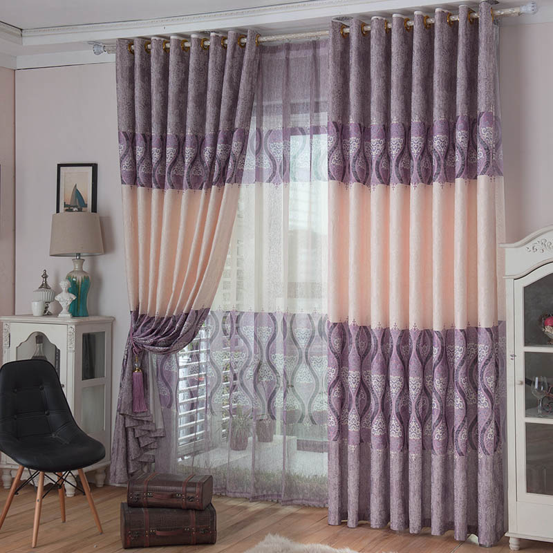 European And American Country Style Rideaux Cotton Printed Blackout Curtain For Living Room Cortinas Infantiles Kitchen Curtain(China (Mainland))