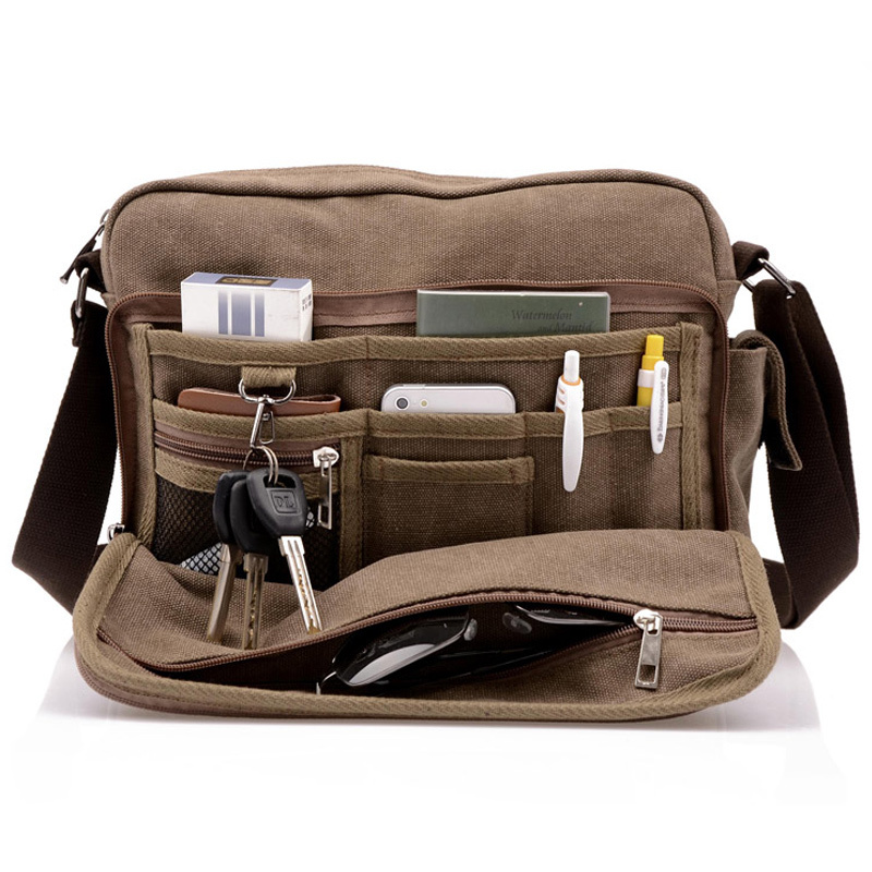 Hot! High Quality Multifunction Men Canvas Bag Casual Travel Bolsa Masculina Men