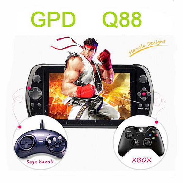 "Q88+ 7"" Quad Core Game Console Player tablet pc GPD Q88+ gamepad Android 4.4.4 1G RAM 8GB 1024*600 Cortex-A9 1.6GHz MEDIA PLAYER(China (Mainland))"