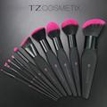TZ Brand 10pcs Makeup Brushes Sets Cosmetic Tools Foundation Brush Powder Blush Eyeshadow Lip Eyebrow Eyeliner