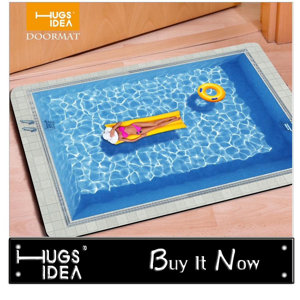 HUGSIDEA 40*60cm Entrance Carpets Funny Rubber 3D Trap Printed Carpet For Living Room Bathroom Floor Mats Kitchen Rugs Alfombras