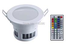 110v/220v spot led downlight 18w rgb 44 key ir wireless ceiling lamp down light for kitchen 5pcs/lot(China (Mainland))