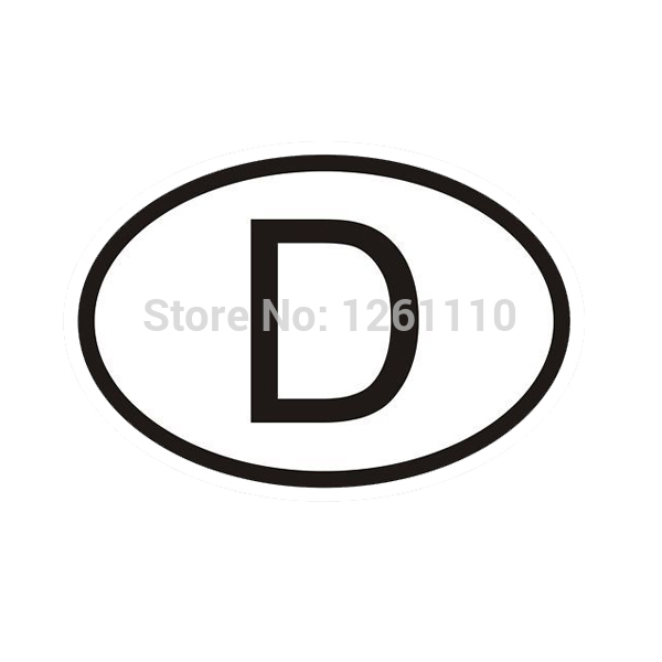 40 pcs/lot D Germany Country Code Oval Car Sticker Auto Vinyl Decal for car Accessories Bumper Window free shipping<br><br>Aliexpress