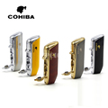 COHIBA Red Cloud Snake Mouth Shape Metal Windproof 3 Torch Jet Flame Cigarette Cigar Lighter with