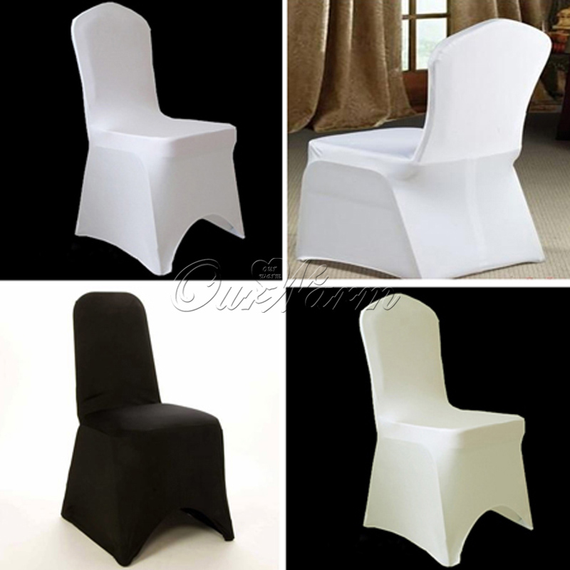 5pcs/lot High Quality Europe style Stretch Chair Cover for wedding party Hotel Banquet Chair Decornation White Black Ivory(China (Mainland))