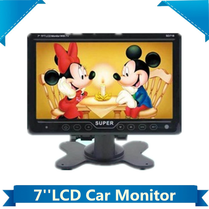 "touch key 7"" TFT LCD headrest dash board car monitor wtih TV tuner /AV Video DVD Player portable(China (Mainland))"