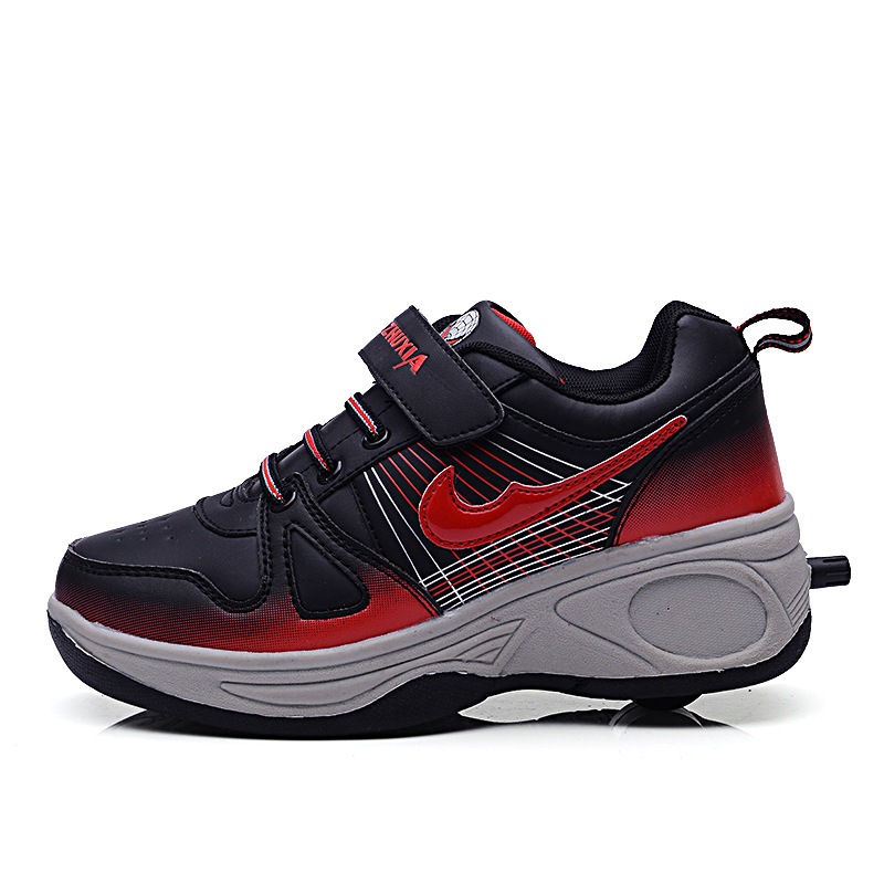 shoes sneakers with wheels breathable automatic