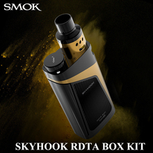Buy Electronic Cigarette Box Mod Kit SMOK SKYHOOK RDTA BOX KIT 220W Electronic Hookah E cigarette Vape Pen 9ml RDTA Tank X1086 for $65.06 in AliExpress store