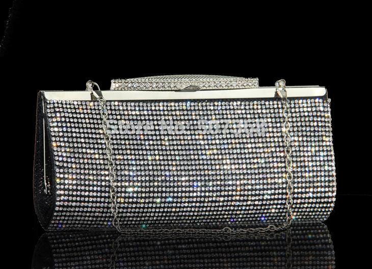 2016 Women's Full Diamond Clutch Evening Bag ,Classic 3 Color Luxious Crystal Wedding Handbag,Party Bag,Can Put Phone(China (Mainland))