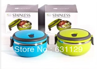 Stainless Steel Lunch Box handle Thermos Food Container Tableware Dinnerware Sets 700ML - Happy Mall ! store