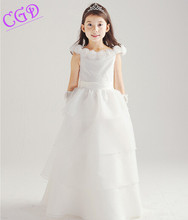 Brand New Girl Dress Casual Kids Clothes 2016 Summer Sleeveless Wedding Party Dresses For Girls Baptism Costume Baby Clothing