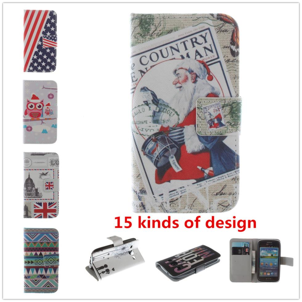 Floral Eiffel Tower Style Cover Soft TPU Flip leather Case Samsung Galaxy Core i8262 Wallet Stand card holder - Shenzhen OYL technology co., LTD store