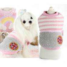 Buy Cute strip winter warm fleece dog pet cat Coat jacket small Dog puppy hoodie clothing pet small dog Chihuahua clothes for $7.77 in AliExpress store