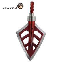6pcs lot 125 Grain 4 Blade Outdoor Hunting Archery Arrowhead Shooting Military Steel Arrow Tip Broadheads