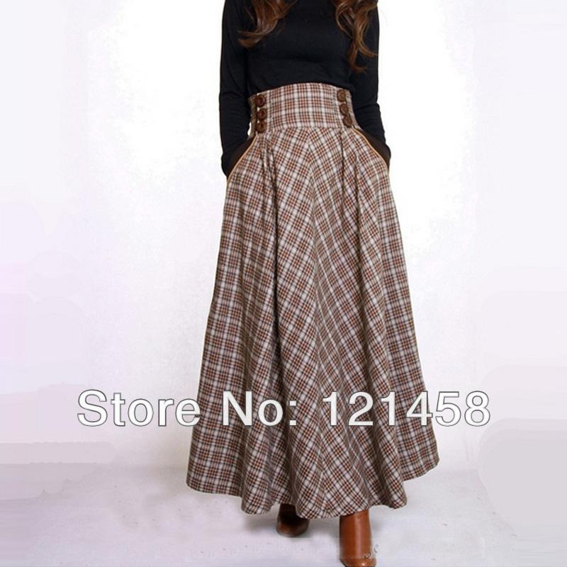 Long Wool Skirt - Skirts