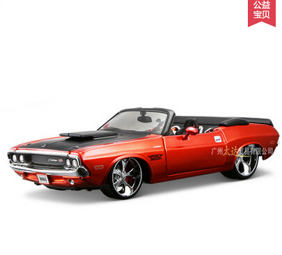 Fast Furious 1970 Dodge challenger Convertible 1:24 car Alloy Simulation metal model home decoration gift - Heartfresh DIY Gift Shop store