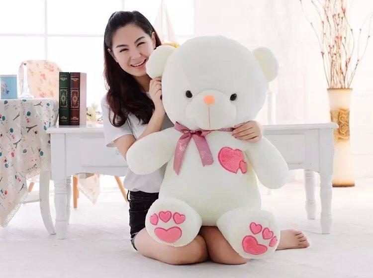 60cm heart teddy bear plush toy gift lover's factory supply - Shanghai Haoran International Trade Co.,LTD store